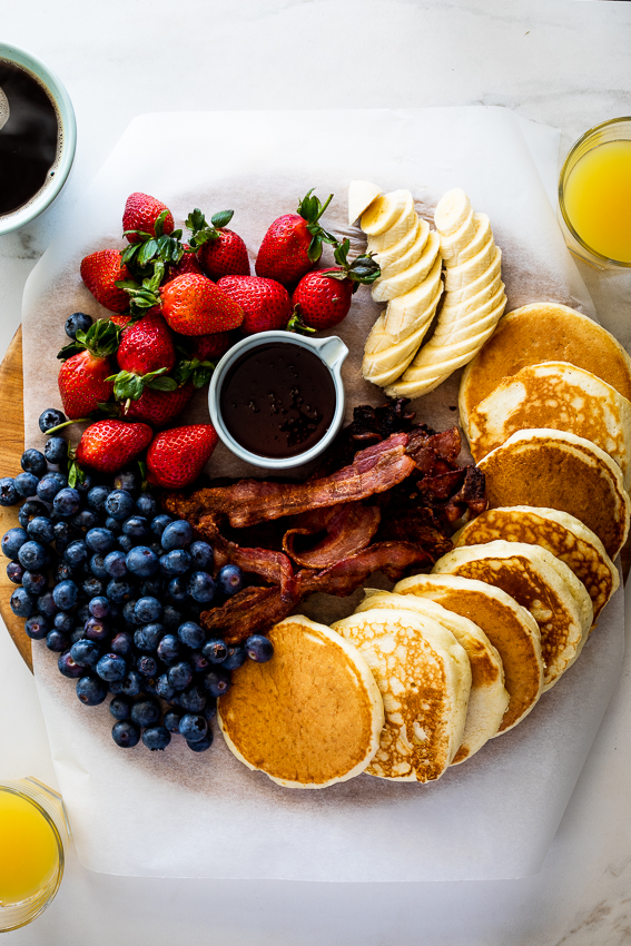 Breakfast pancake board