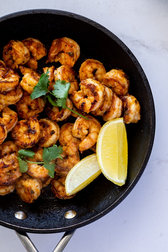 Spicy shrimp for tacos