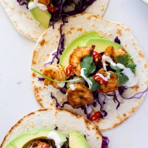 Easy spicy shrimp tacos