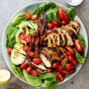 Grilled chicken BLT salad