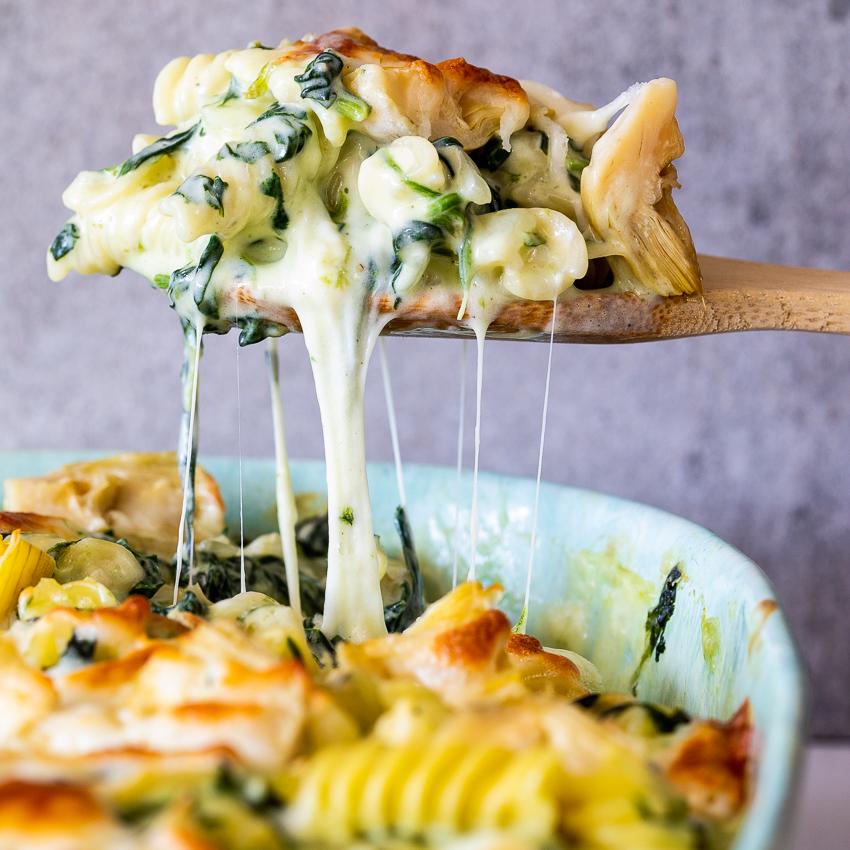 Spinach Artichoke Pasta Bake Simply Delicious