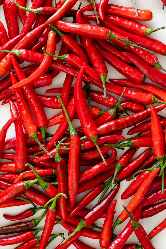 Fresh chilli peppers.
