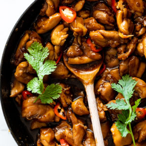 Easy sticky ginger chicken