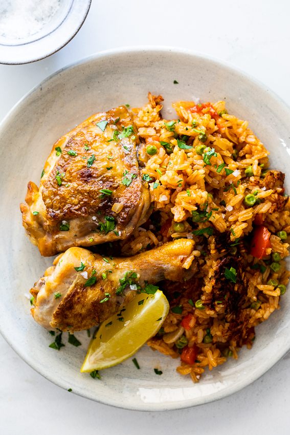 Spanish chicken and rice.