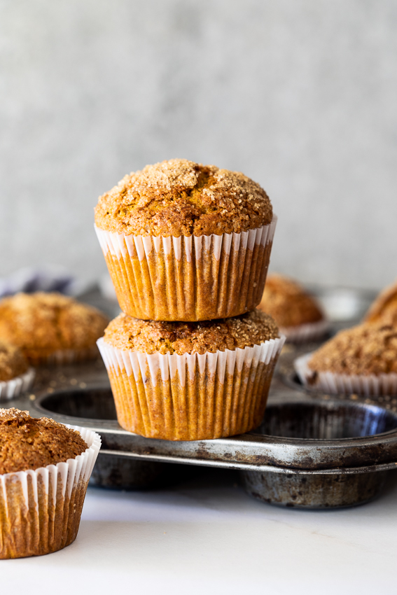 Cinnamon brown sugar pumpkin muffins