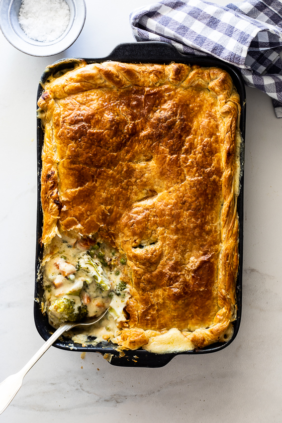 Creamy vegetable pot pie