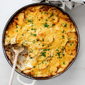 3 cheese potatoes au gratin