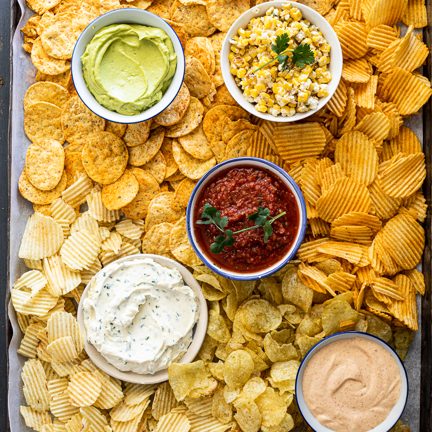 Chips and dip platter - Simply Delicious