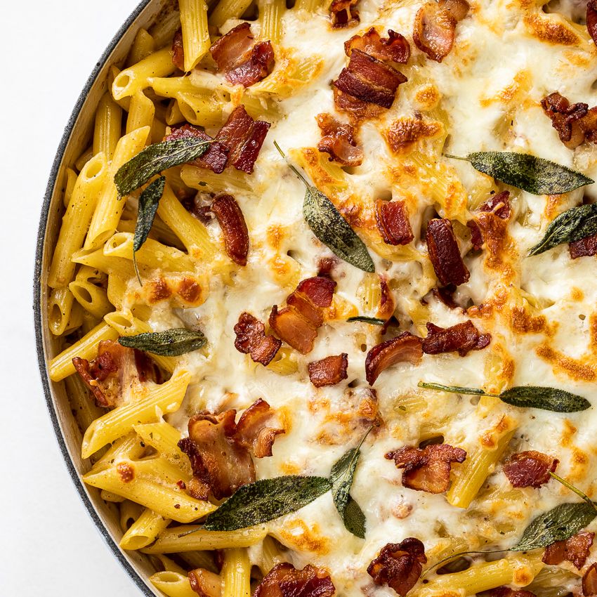 Creamy Bacon Pasta Bake Simply Delicious