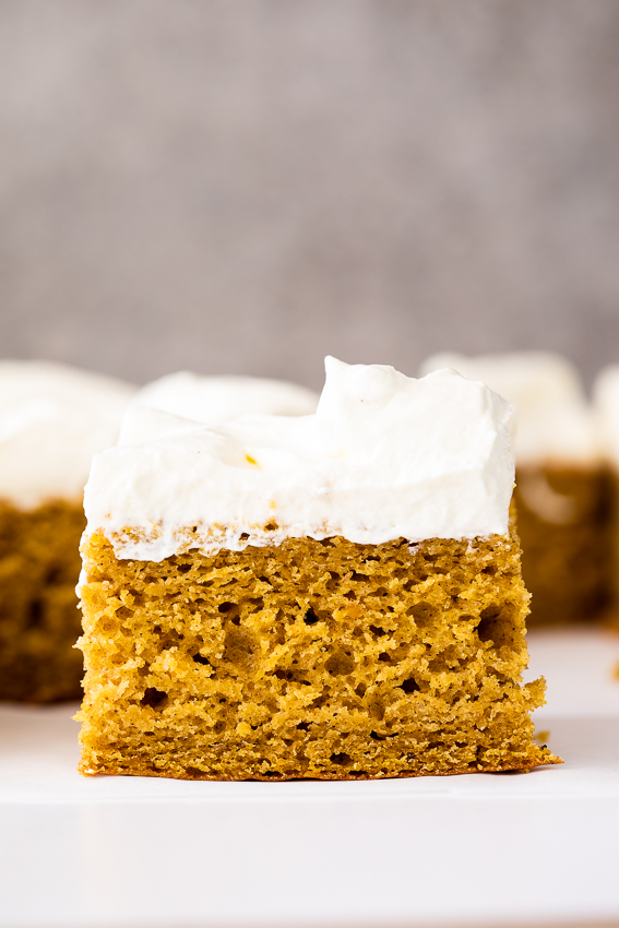 Pumpkin sheet cake with Chantilly cream