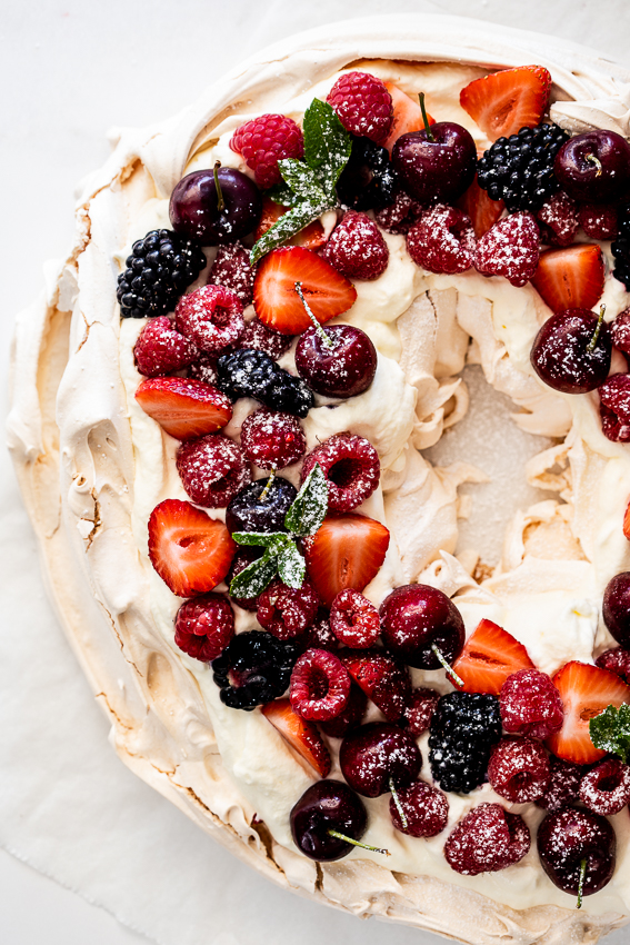 Pavlova Christmas Wreath
