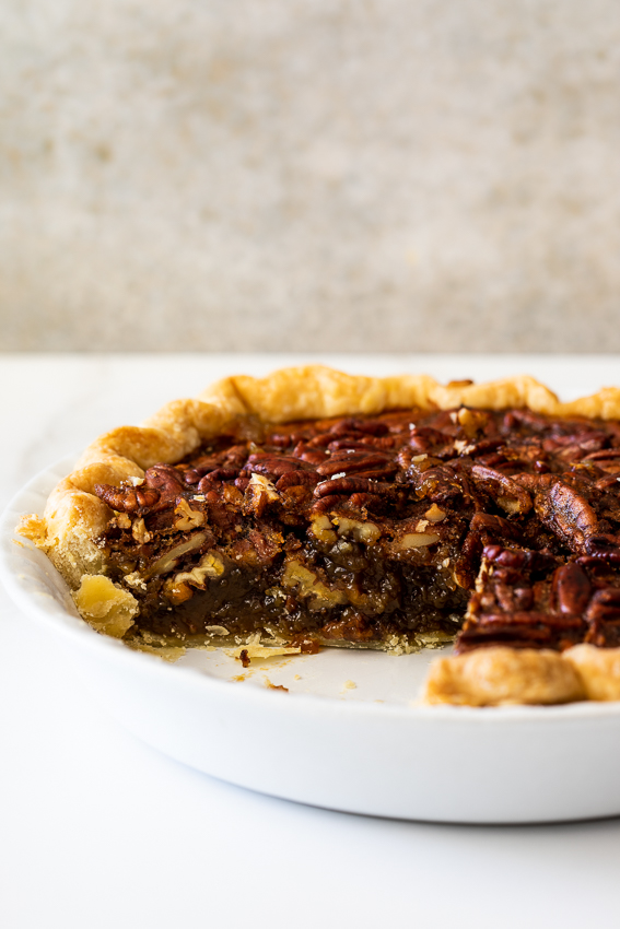 Gooey pecan pie.