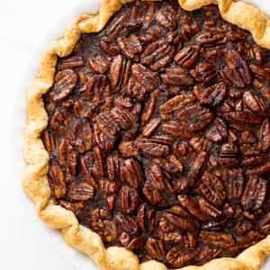 Cinnamon brown sugar pecan pie