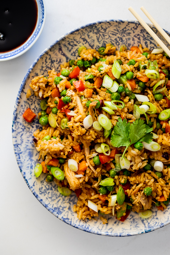 Easy rotisserie chicken fried rice