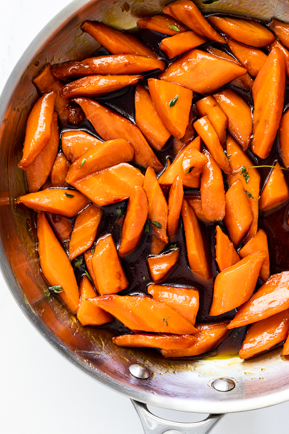Orange brown sugar glazed carrots