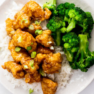 Sweet and sticky Orange chicken