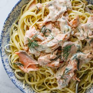 Creamy dill salmon pasta