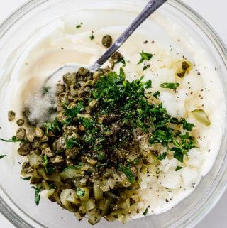 Tartar sauce ingredients