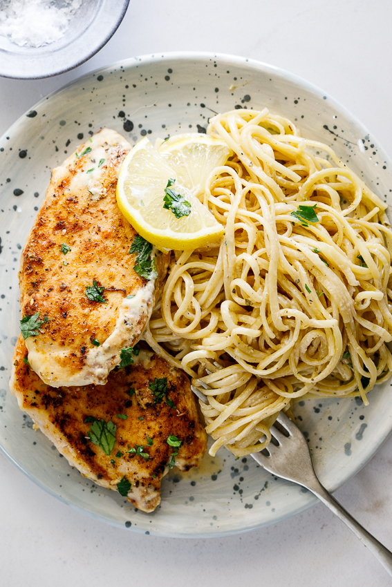 Creamy lemon Parmesan chicken