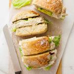 Family-size creamy chicken salad sandwich