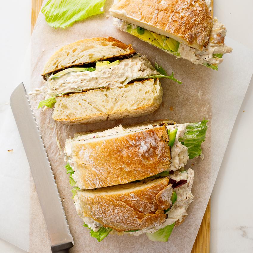Family Size Creamy Chicken Salad Sandwich Simply Delicious