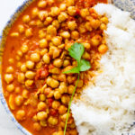 Easy creamy chickpea curry