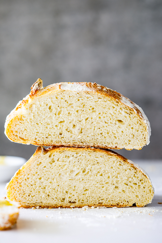 Easy crusty bread made with 5 ingredients.