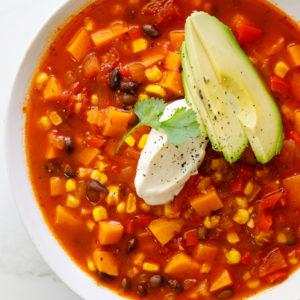 Easy vegetable taco soup