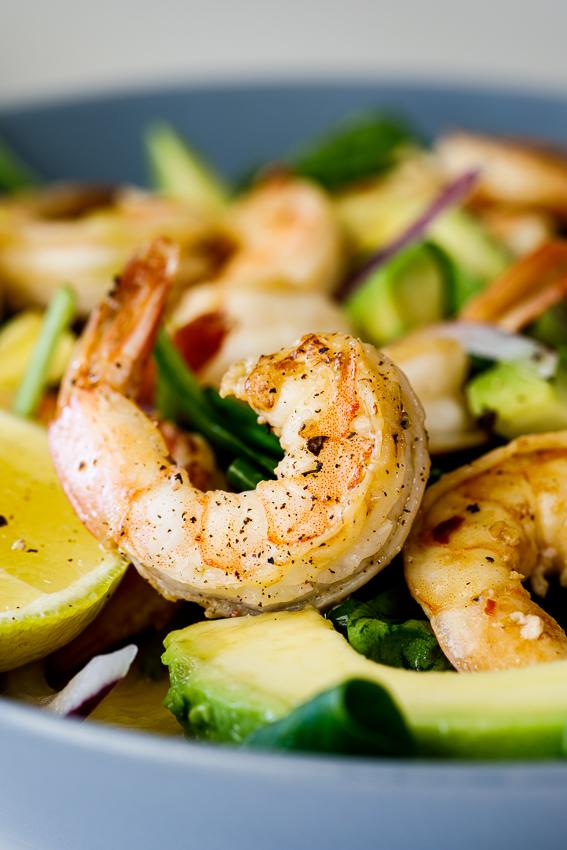 Easy lemon shrimp salad
