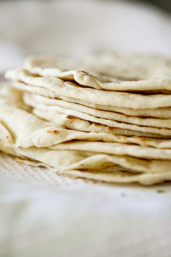 Warm and fluffy flour tortillas.