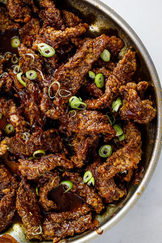 Honey soy crispy beef.