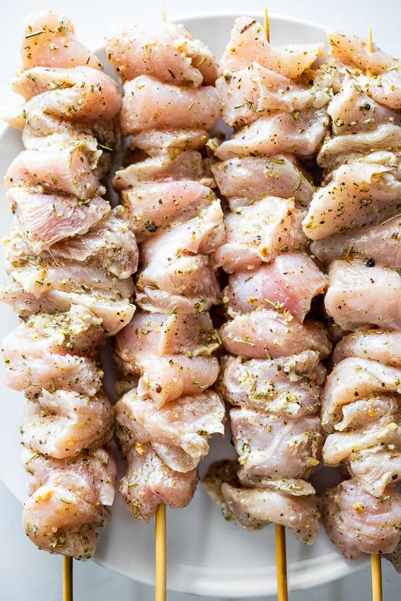 Chicken Souvlaki skewer.