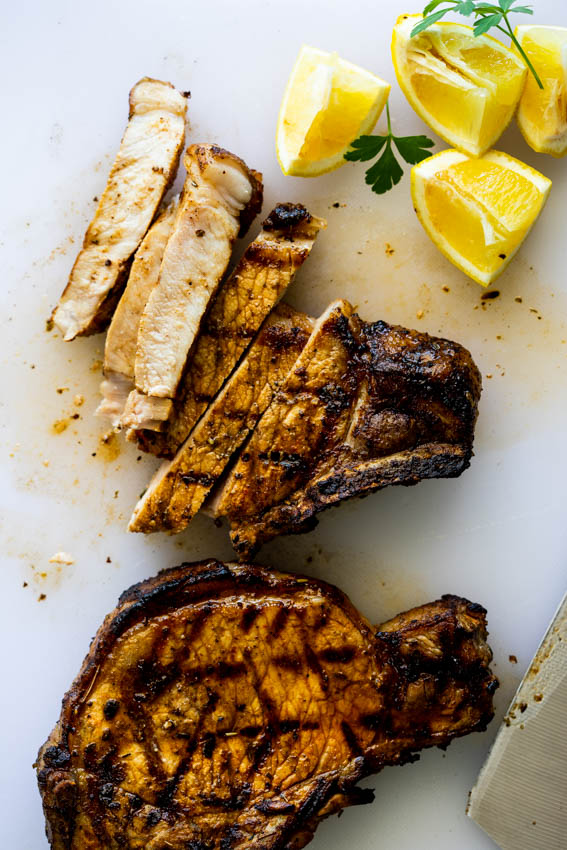 Easy Grilled pork chops