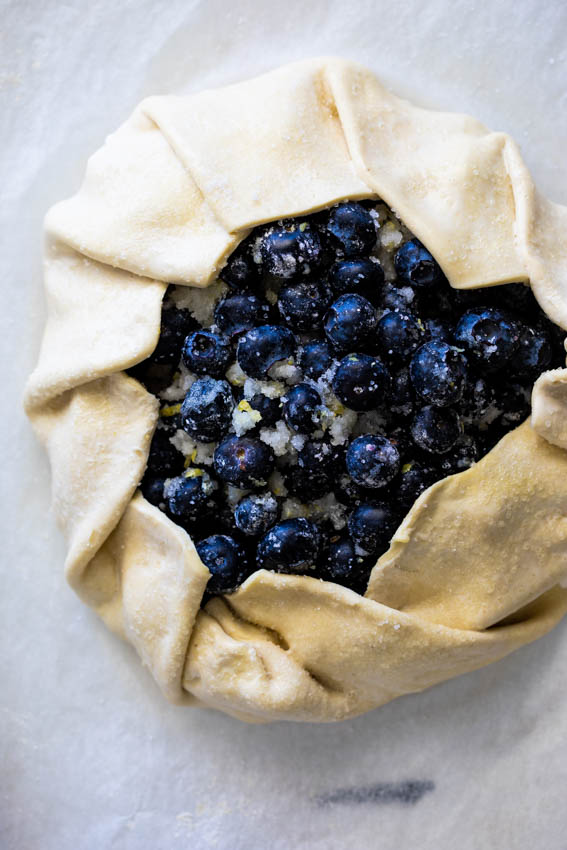 Easy Puff Pastry Blueberry Galette