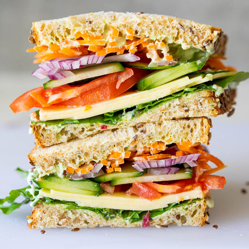 Easy Healthy Salad Sandwich Simply Delicious