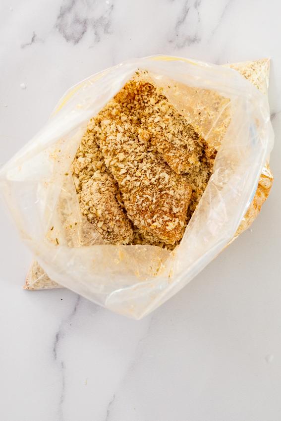 Chicken fingers in panko breadcrumbs