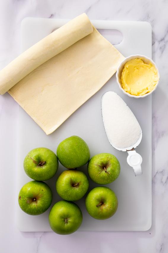 Ingredients for apple tarte tatin