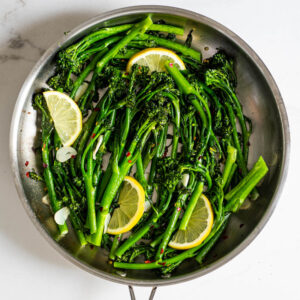 10-minute lemon garlic sautéed broccolini