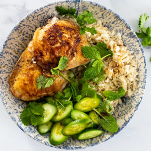 One pan Ginger chicken and rice