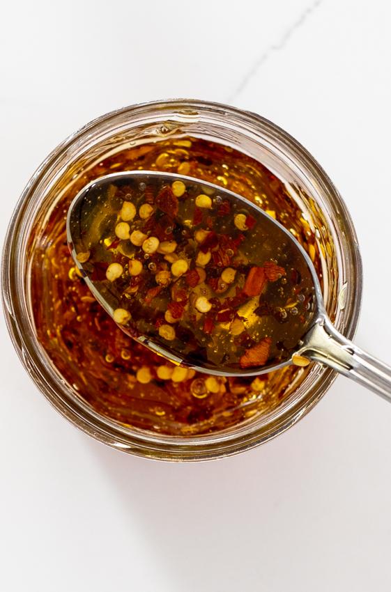 Homemade hot honey