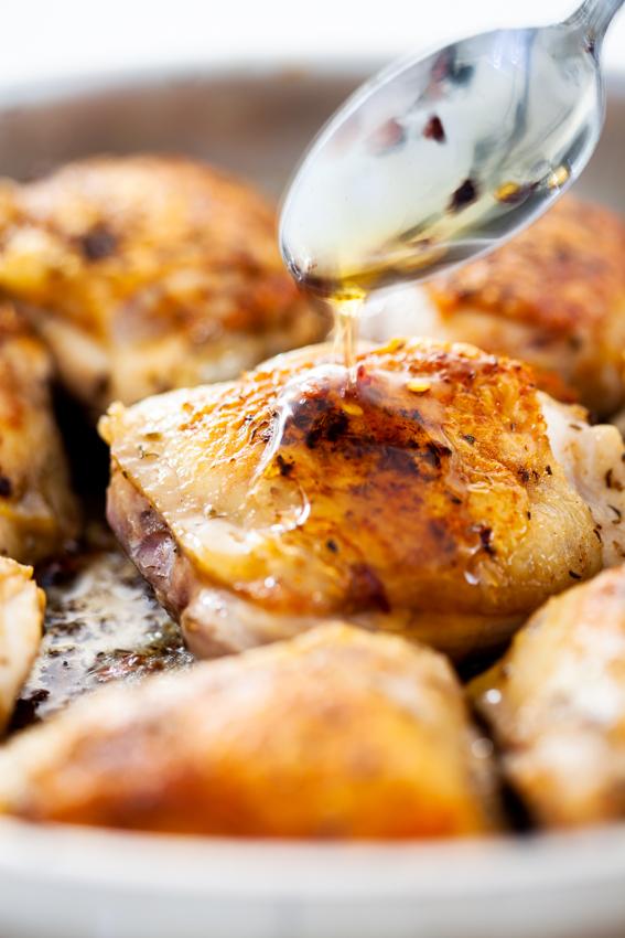 Easy hot honey chicken thighs