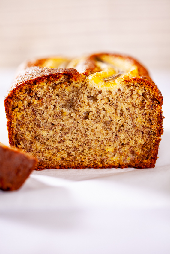 Moist and flavorful banana bread