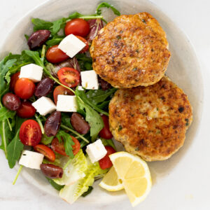 Lemon Parmesan chicken patties
