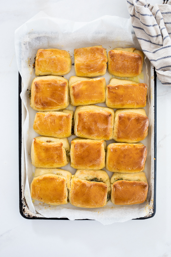 Soft and garlicky, these rolls are the perfect side dish.