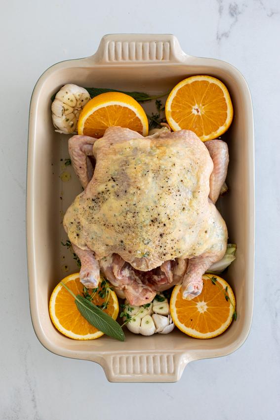 Sage orange Christmas chicken