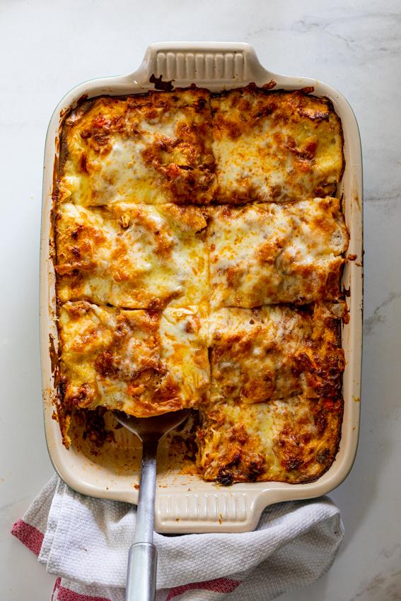 Classic homemade lasagna