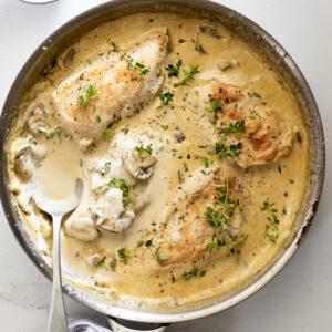 Creamy Mushroom Parmesan Chicken