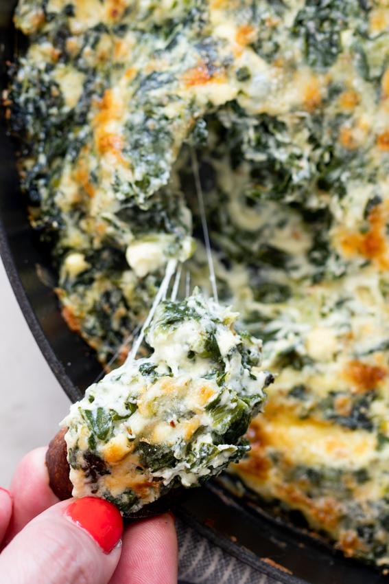 Super cheesy spinach dip.