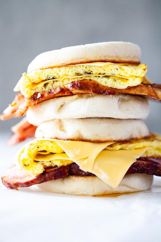 Easy Leftover Ham Breakfast Sandwich