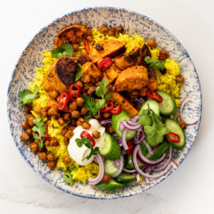 Tandoori sweet potato rice bowls